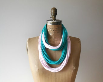 Fiber Necklace T Shirt Scarf Womens Scarves Fashion Cotton Gift for Her Fashion Eco Friendly Eco Chic Neck Wear by ohzie