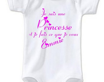 Bodysuit I am a Princess and I make... personalized with name