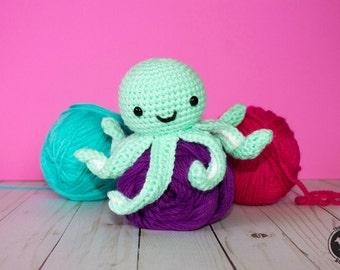 Crochet Octopus Pattern| PATTERN ONLY| Amigurumi Mini Octopus Pattern| Baby Toy| Stuffed Toy| Octopus Toy| Childrens Gift