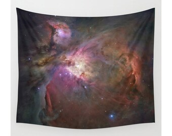 Orion Nebula, Space Wall Tapestry, Wall Hanging, Large Photo Wall Art, Modern Tapestry, Home Decor