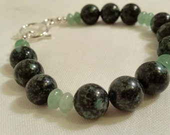 Rainforest and New Jade 6.5 inch bracelet onetwelvejewelry