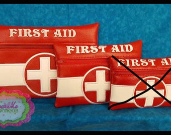 LINED 6x10 and 8x12 ONLY First Aid Zip Bag