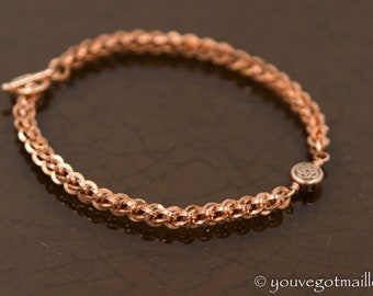 Fine Copper Chainmaille with Celtic Knot