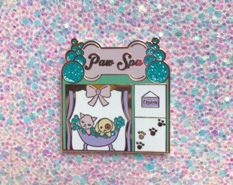 Pin Street Paw Spa Enamel Pin