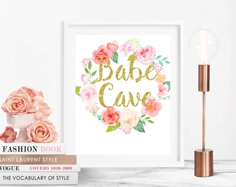 babe cave sign, babe cave print, girls room decor, girls nursery art, babe cave, babe cave wall art,college decor,boss babe,digital download