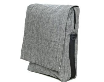 Backpack,Gray bag ,Cotton bag,Padded bag, Laptop Bag,messenger bag,Vegan bag- Niko in grey
