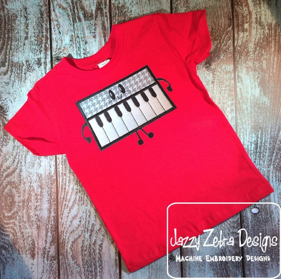 Keyboard applique embroidery design - music applique design - Keyboard applique design - band applique design - music instrument appliqué