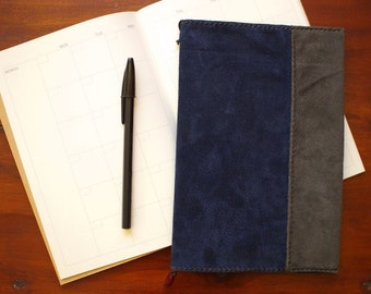 SUEDE NOTEBOOK COVER