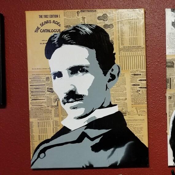 Nikola Tesla Original Painting