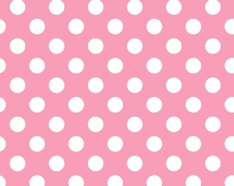 Little Flannel Too Fabric-Pink Dots