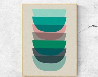 Wall art prints, Geometric print, Scandinavian modern art, Scandinavian print, Digital download art, Geometric wall art, Abstract art print