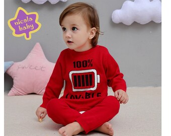 NicolaBaby Cotton Sweater Onesies with cute designs perfect for babies toddlers winter
