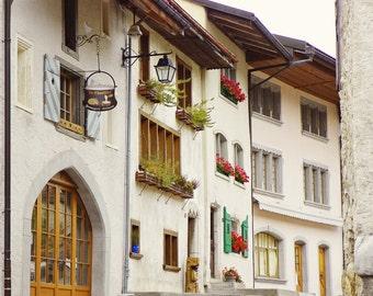La Chaudière, Switzerland Photography, Restaurant, Gruyère, Travel Photography, Art Print, Wall Decor