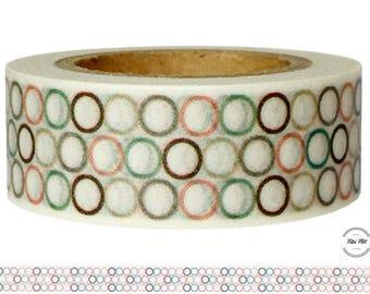 Washi Tape CIRCLES retro