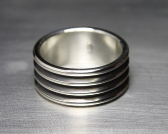 Mens Ring, Wedding Band, Silver, Litecoin Accepted