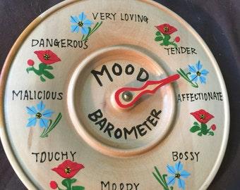Mood Barometer Wood Wall Hanging Moves