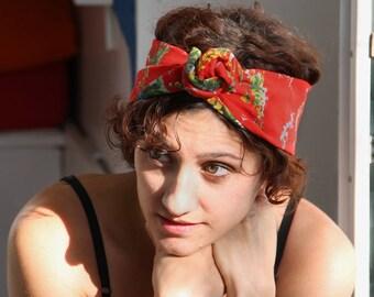 Red Flowered headband
