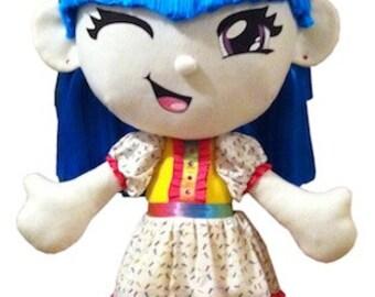 Kurin Baby waschen schrubben 3 Fuss hohen Fenster Anzeige Puppe