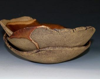 Serving bowls in Mahogany