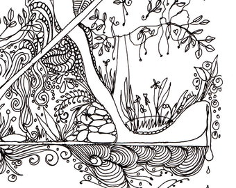 Monogram - Z - Initial, Colour-Me-In Illuminated Letters, original art  drawings by melanie j cook