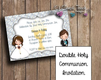 Digital First Holy Communion Invitation