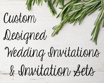 Custom Wedding Invitation Design // Custom Wedding Invitation Suites // Custom Wedding Invitation Set // Custom Design // One of a Kind