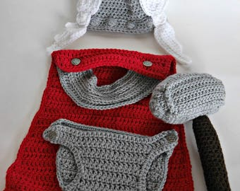 Thor god of thunder baby outfit photo prop