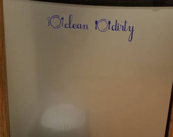 Clean or Dirty Dishwasher Decal