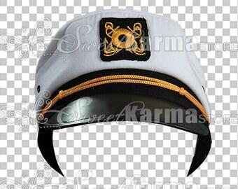 Ship Captain Cap Hat Digital Photography Prop (File #2010)