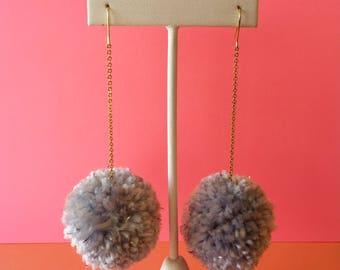 rainy day pom earrings