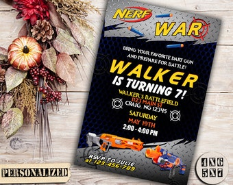 Nerf Invitation,Nerf Birthday,Nerf Party,Nerf Printable,Nerf Birthday Invitation,Nerf Birthday Party,Nerf Invitation Party,Nerf-F0105