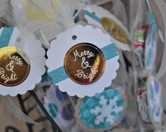 Peppermint Pattie Stocking Stuffers, Christmas Chocolate, Hostess Gift; Package filler