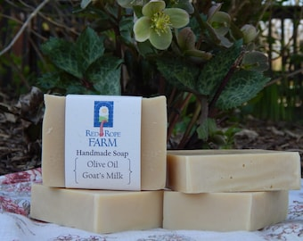 Olive Oil & Sheep's Milk Soap, Unscented, Sensitive Skin, Cold Process, Extra-Moisturizing, 1 bar