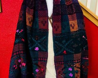 Boiled wool shawl