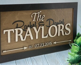 Wedding Signs, Personalized Last Name Sign, Rustic Wedding Anniversary Gift, Personalized Wood Sign, Wooden Last Name Sign, Last Name Decor
