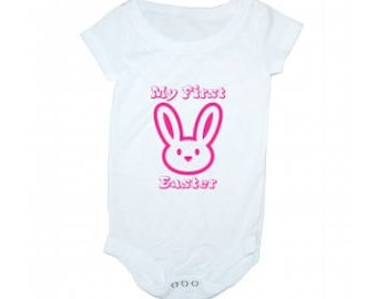 Girl's My First Easter- Easter Bunny Onesie