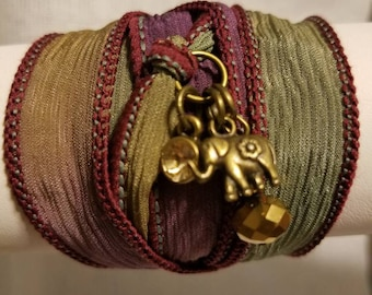 Silk Ribbon Wrap Bracelet