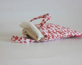 Custom Order: Set of Reusable Eco Bags for Bulk Shopping / 4 Shopping Bags With a Pouch / Set of Reusable Bags for Bulk Produce Shopping