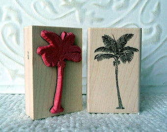 Palm Tree rubber stamp from oldislandstamps