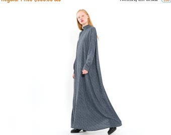 Blue/Grey Urban Style Gallabia/Kaftan Dress with long sleeves/Free Flowing Long Cape Dress/Trendy Comfortable Maxi Dress/Party Dress