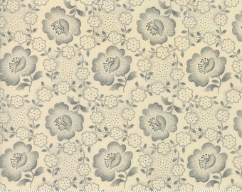 Moda Jos Shirtings by Jo Morton Cream Blue Floral Civil War Reproduction Fabric 38040-22 BTY