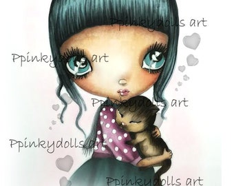 INSTANT DOWNLOAD Digital Digi Stamps..by Chrishanthi's art,What a day''