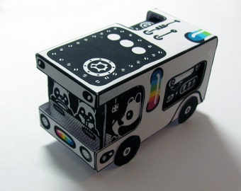 Panda Bus CMYK Papercraft PDF