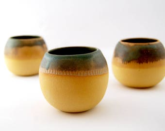 Hand Thrown Handmade Ceramic Espresso Cups, Tumbler Handmade Gift, Gift for her, House warming Gift, Foodie Gift