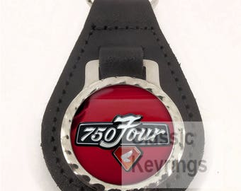 HONDA CB750 Real leather keyring keychain FREE SHIPPING worldwide