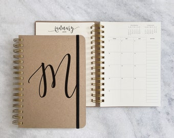2018-2019 planner | 2018 student planner (Aug-Jul) | kraft monthly planner | 2018 planner | personalized weekly planner 2018