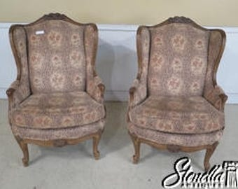 42916E: Pair SAMUELSON French Louis XVI Upholstered Chairs