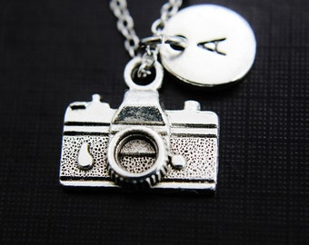 Camera Necklace, Silver Camera Charm, Photographer Gift, Photography Student Gift, Gifts Mom, Personalized Gift, Best Friend Gift, N46