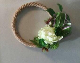 Modern Succulent Rope Wreath