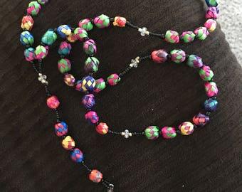 Handmade colorful rosary